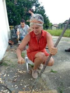 Atelier copeaux de bois